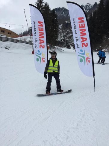 Snowboard wedstrijd
