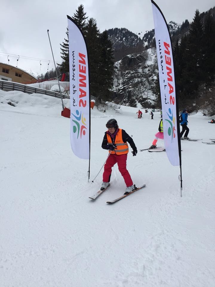 Wedstrijden op de ski's
